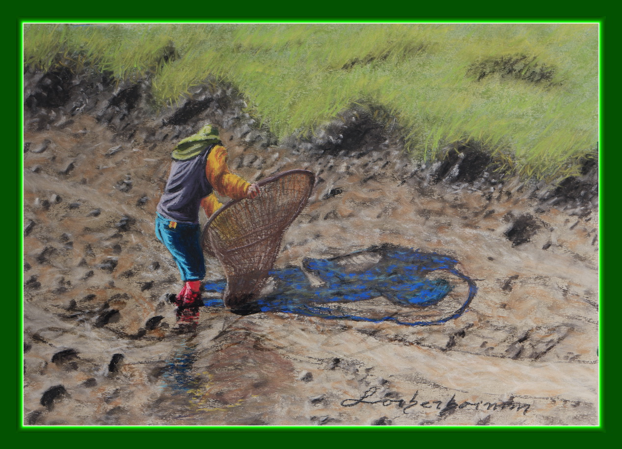 fisher 400 art paper 220 volt wiring diagrams woman with net catching in mud khao phra wiharn