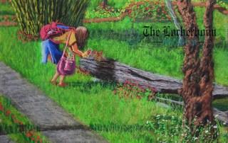 Lorberboim Soft Pastel Painting. Chiang Mai..