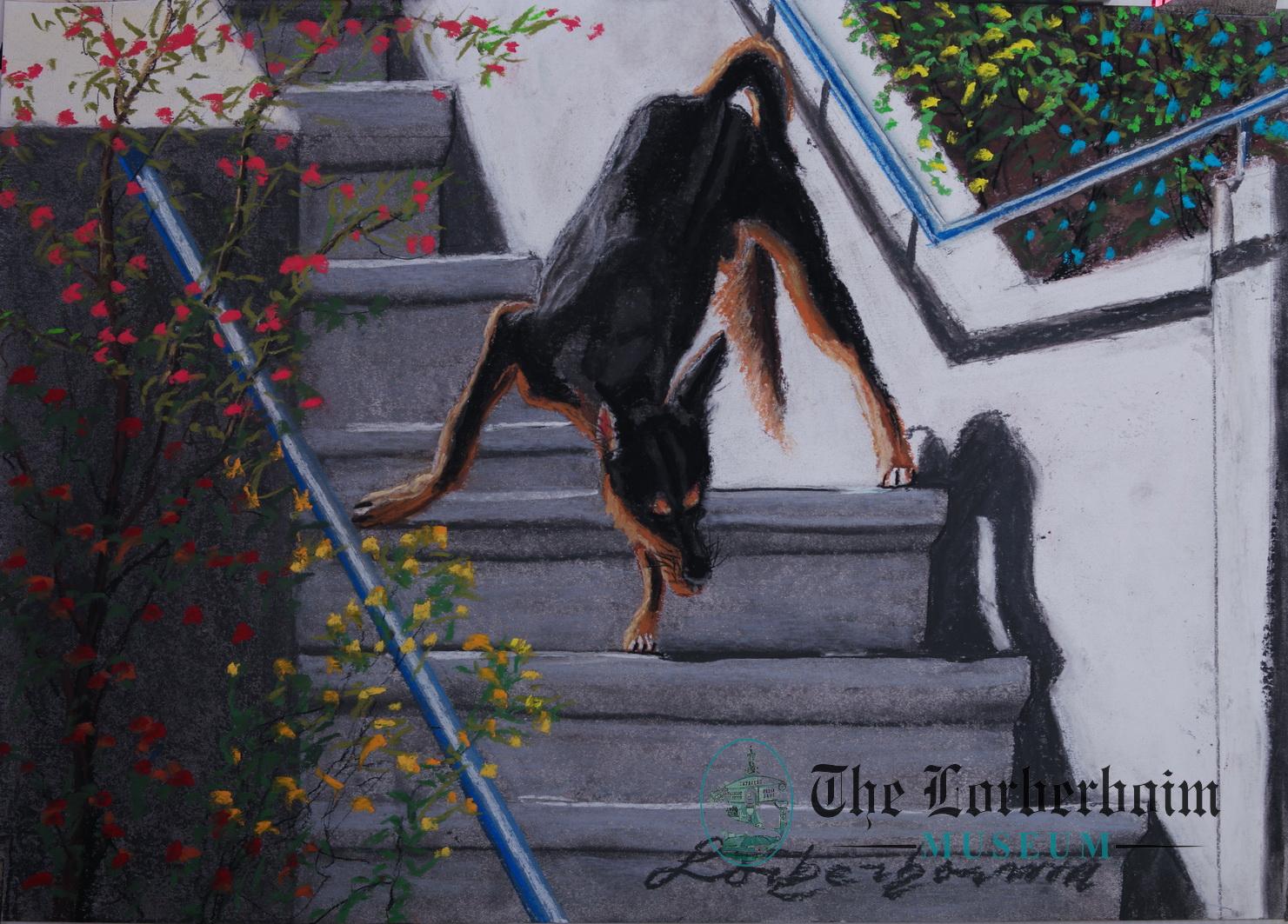 Dog , Museum, Lorberboim, Tlmuseum.com, artnot4sale, Lorberboim.com, Lorberboim Soft Pastel Painting,