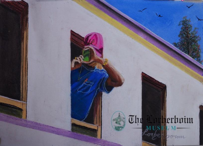 Photographer, Train, , Museum, Lorberboim, Tlmuseum.com, artnot4sale, Lorberboim.com, Lorberboim Soft Pastel Painting,