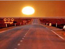 Into the setting sun