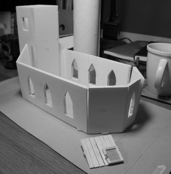 Church held together with bluetack