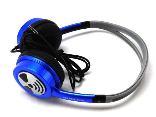 iFrogz EarPollution Toxix Headphones Blue 811275011512