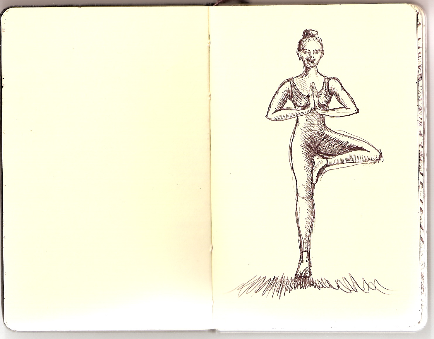 vikrasana, as the pose appears on the outside
