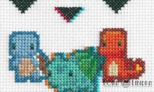 3D Pokemon Selection Cross Stitch by Lord Libidan