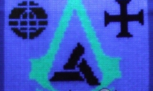 Abstergo Poster - Glow In The Dark Cross Stitch