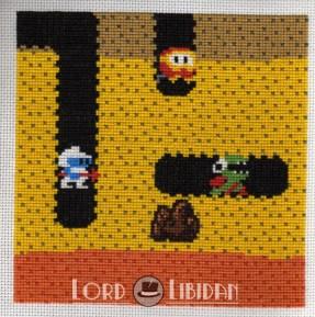 Dig-Dug Charity Square Cross Stitch