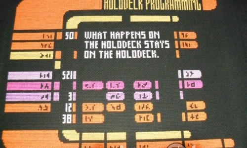 Star Trek LCARS Interface Cross Stitch by Lord Libidan