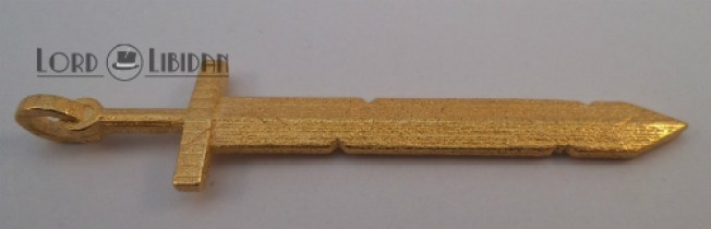 Adventure Time Golden Sword Pendant