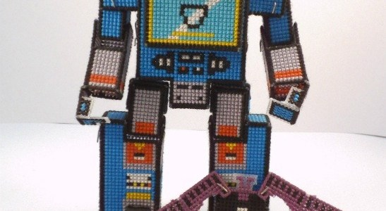 Soundwave Transforming 3D Cross Stitch by Lord Libidan in robot form