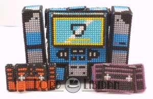 Soundwave Transforming 3D Cross Stitch by Lord Libidan in tape player form