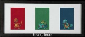 Pokemon Triptych Cross Stitch