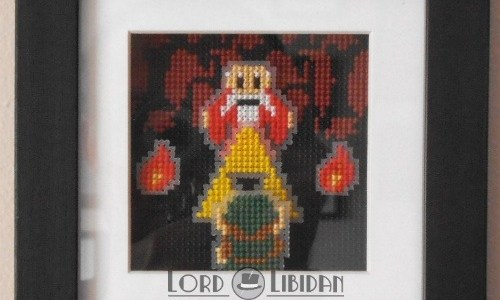 Zelda Dangerous Alone Shadow Box Cross Stitch by Lord Libidan