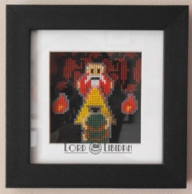 Zelda Dangerous Alone Shadowbox Cross Stitch