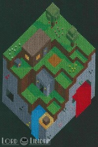 Minecraft Cross Stitch by Lord Libidan