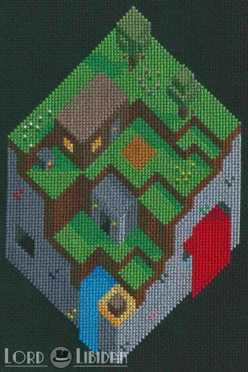 Great Minecraft Cross Stitch By Lord Libidan