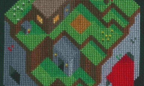 Minecraft Cross Stitch by Lord Libidan