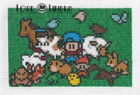Harvest Moon Family Cross Stitch