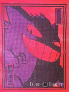 Pokemon Japanese Gengar Print Cross Stitch