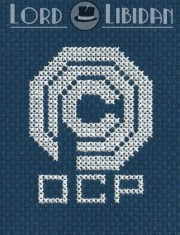 Robocop OCP Cross Stitch