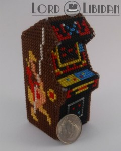 Miniature 3D Joust Arcade Cabinet Cross Stitch
