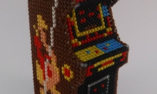 Miniature 3D Joust Arcade Cabinet Cross Stitch by Lord Libidan