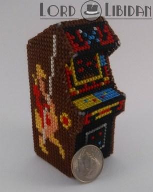 Miniature 3D Joust Arcade Cabinet Cross Stitch