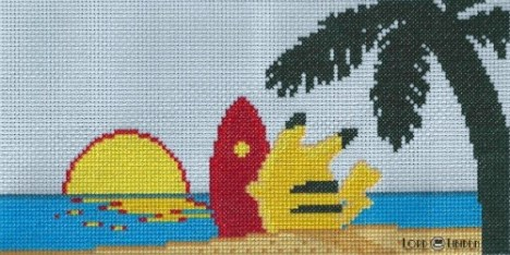 Surfing Pikachu Cross Stitch