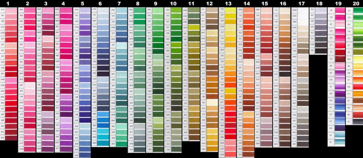 DMC Color Chart - Updated