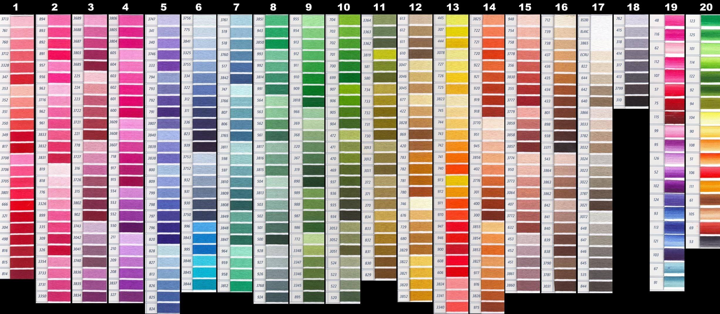 Dmc color chart lord libidan dmc color chart nvjuhfo Images