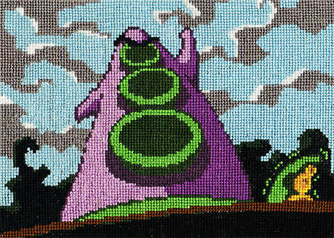 day of the tentacle cross stitch
