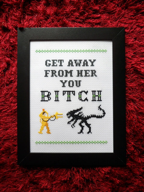 alien cross stitch