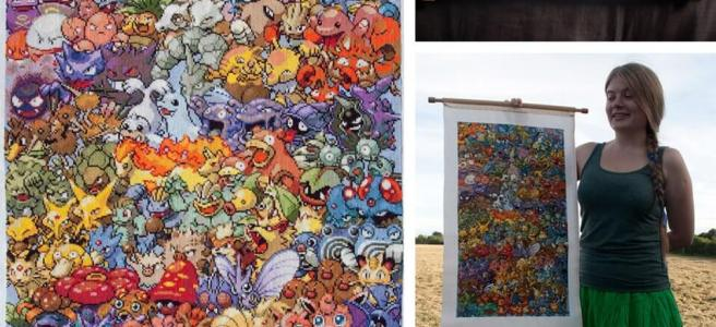 epic pokemon cross stitch