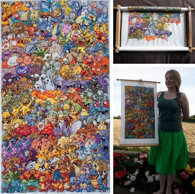 Epic Pokemon Cross Stitch by Eponases (source: eponases.com)