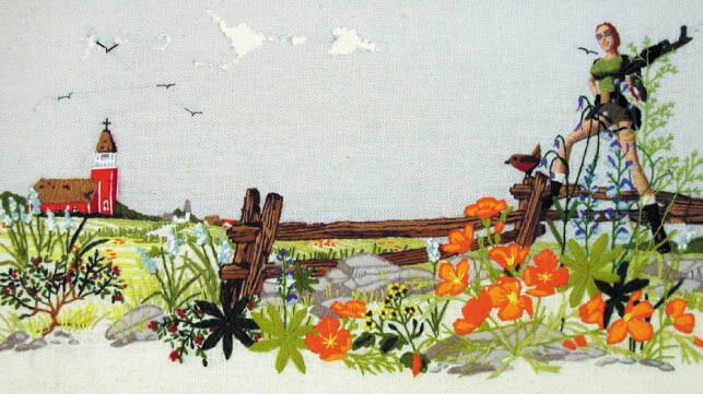 lara croft cross stitch