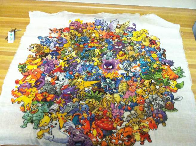 pokemon circle cross stitch