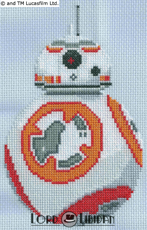 Star Wars BB-8 Cross Stitch