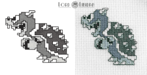 Bowser Concept Art Cross Stitch