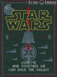 Star Wars Dark Side Sampler Cross Stitch