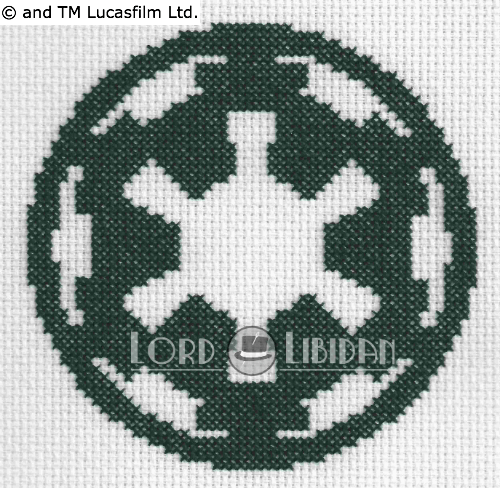 Star Wars Imperial Logo Cross Stitch