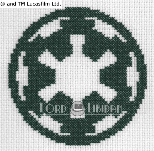 Star Wars Imperial Logo Cross Stitch