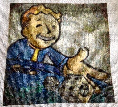 Fallout New Vegas Cross Stitch by SonnySplendor (source: spritestitch.com)