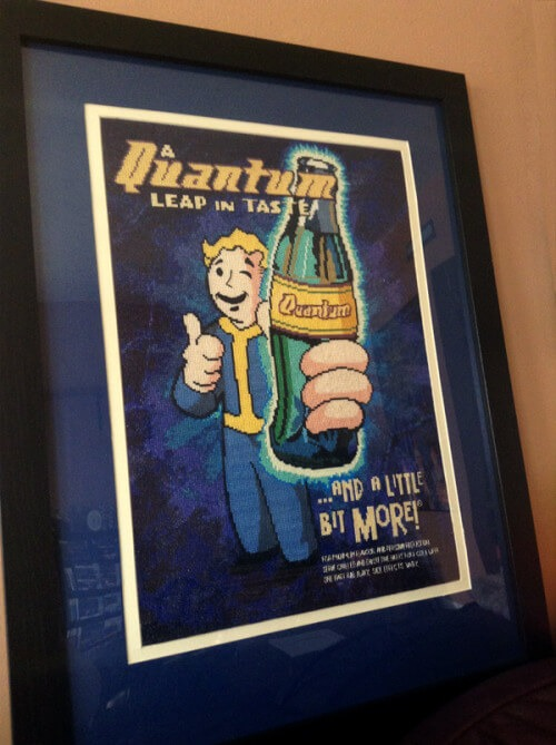 Fallout Nuka Cola Quantum Cross Stitch (source: google images)