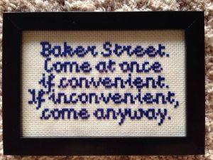 sherlock holmes baker street cross stitch pattern