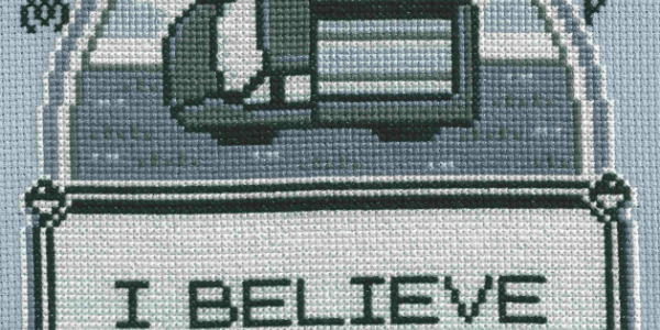 I Believe In Mew Cross Stitch by Lord Libidan