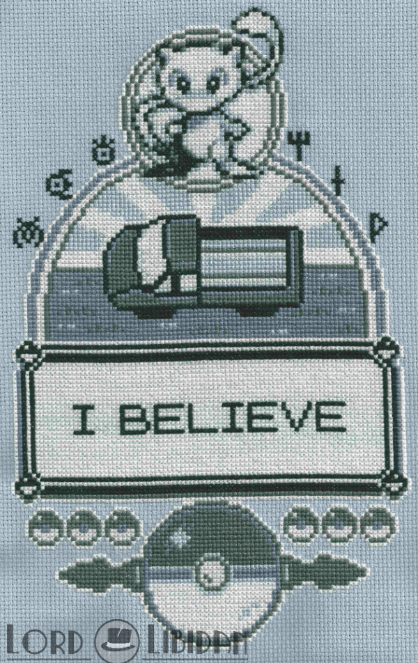 I Believe In Mew Cross Stitch