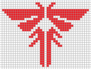 last of us fireflies logo cross stitch pattern
