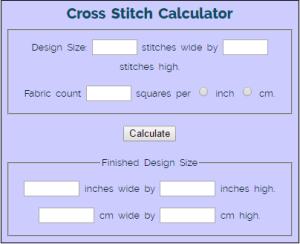 needlework tips and tricks cross stitch calculator