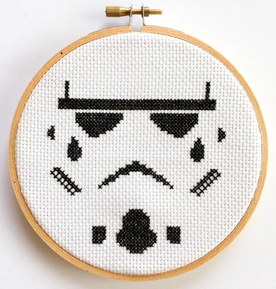 stromtrooper helmet cross stitch