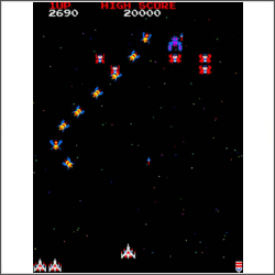 galaga screenshot cross stitch pattern